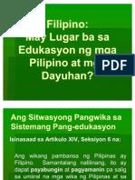 May Lugar Ba Ang Filipino