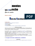 Guia de Estudio. Objeto de Estudio 3. Der Constitucional