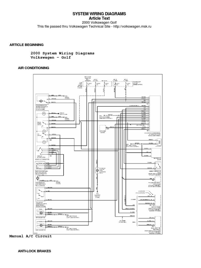 KO7_886] 2000 Vw Golf Ac Wiring Diagram | wiring diagram KO7_886 |  solid-approve.centrostudimad.itcentrostudimad.it