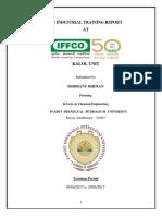 IFFCO Kalol Internship Report