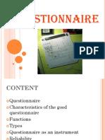 Questionair Design