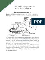 Nuevas Normas ASTM Reemplazan a Las Normas ANSI Z41 Sobre Calzado de Protección