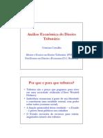 Cristiano Carvalho - Análise Econômica do Direito Tributário - Curso L&E 2010
