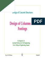 Design procedure for column