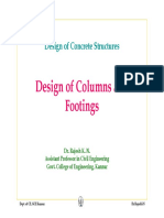 Design procedure for column