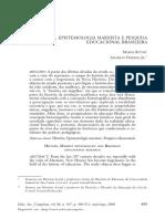 História, Epistemologia Marxista e Pesquisa Educacional Brasileira