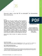 Discursos Sobre o Uso Das Tic Na Educação Em Documentos Ibero-Americanos