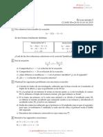 Ejercicios sencillos de álgebra