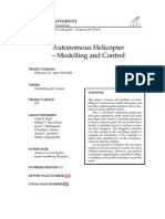 Autonomous Helicopter -modelling and control