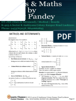 Matrices and Determinants(New)
