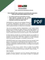 PERU APRUEBA TRES CONTRATOS CON PETROLERA ANADARKO PARA EXPLORAR HIDROCARBUROS EN EL MAR