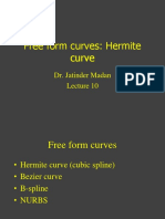 Lecture 12 Free Form Curves Hermite