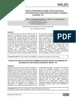 _artigo 2014 _efeitos Dos Poluentes Atmosféricos Sobre Placas de Rochas