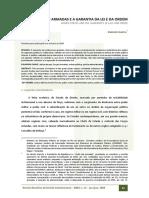 RBDC- Artigo - Emerson Garcia - As Forças Armadas e a Garantia Da Lei e Da Ordem - 2008