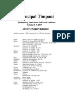9 October Timpani Audition Rep