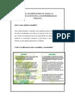 Indicadores Básicos Para La Planificación de La Sostenibilidad Urbana