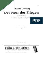 Golding - Der Herr Der Fliegen