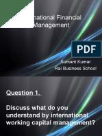 International working capital management