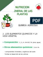 Qimica Agrícola. Sesión 8. Elementos Esenciales 2014