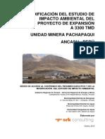 MODIFICACIÓN DEL ESTUDIO DE IMPACTO AMBIENTAL DEL PROYECTO DE EXPANSIÓN A 3300 TMD UNIDAD MINERA PACHAPAQUI