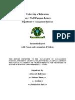 MBA Internship Format