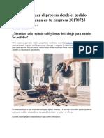 Cᅢᄈmo optimizar el proceso desde el pedido hasta la cobranza en tu empresa 20170723.docx