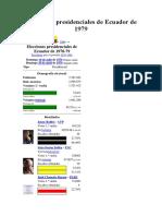 Elecciones Presidenciales de Ecuador de 1979-2013