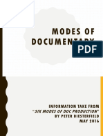 Modes of Documentary SIM