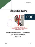 Unidad 4 Sistema de Gestión de La Seguridad y Salud Ocupacional