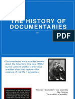The History of Documentaries