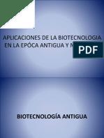 Aplicaciones de La Biotecnologia en La Epóca Antigua