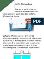 Presión hidráulica