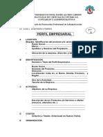 10 Formato de Perfil Empresarial