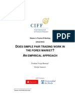 Does Simple Pair Trading Work in Fx