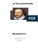 William Shakespeare Trabajo English