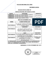 Hoja de Ruta Vehiculo Policial Pl-15257