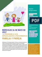 Temario Informacion Pae Psicoterapia Familia Pareja