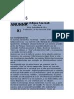 Los Códigos Anunnaki