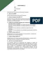 Cuestionario NIF a-1 y C-11