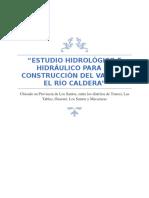 Estudio Hidrologico e Hidráulico
