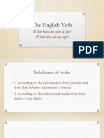 6 Subclasses of Verbs