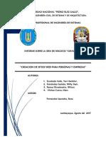 Informe Idea de Negocio
