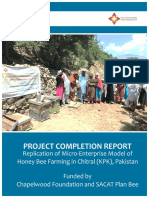 Replication of Micro-Enterprise Model of Honey Bee Farming in Chitral Completion Report  9-15-17