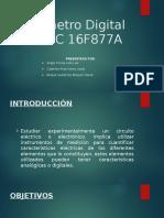 Voltímetro Digital Con PIC 16F877A
