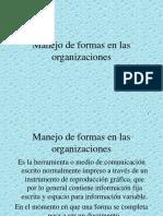 Manejo de Formas en Las Organizaciones