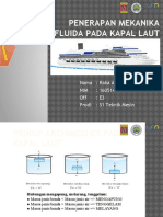 Penerapan Mekanika Fluida Pada Kapal Laut