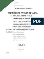 Geologia de Las Aguas Termales en Tacna-calientes