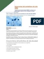 Ventajas y Aplicaciones Del Polietileno de Alta Densidad y Poliestireno