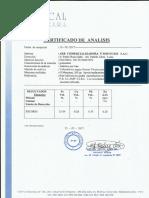 Certificado de Escoria