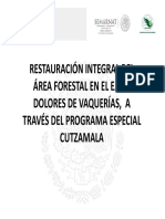 Restauración Del Área Forestal